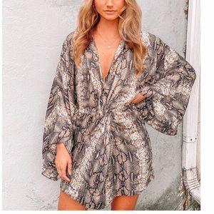 Snakeskin kimono dress